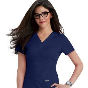 NWT Greys Anatomy Navy Scrub Top 2XL